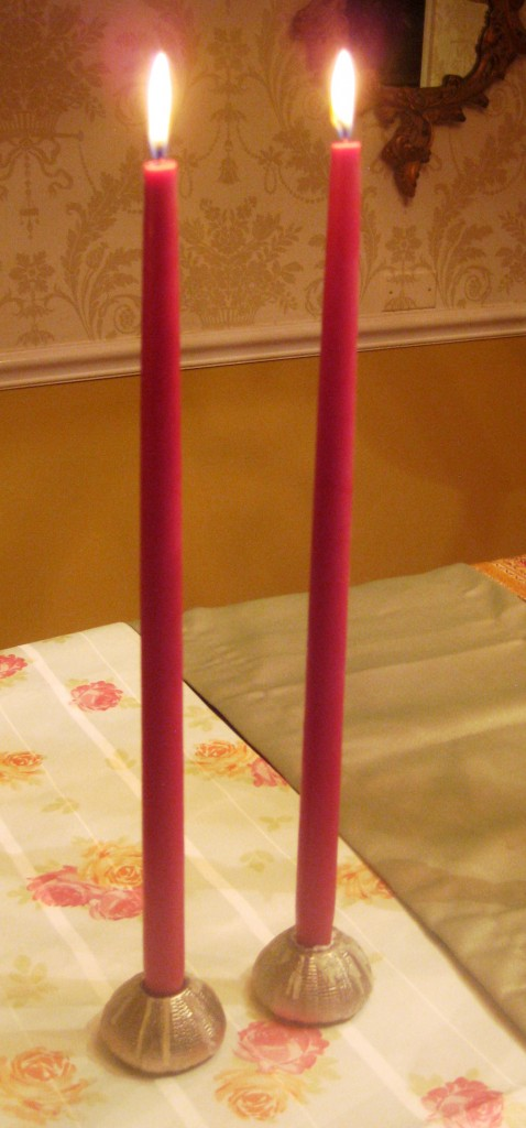 candles table pink Laura Ashley