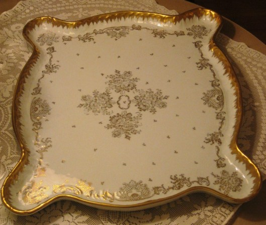 Limoges platter on front table