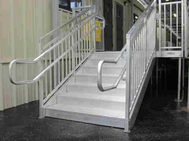 Aluminum Steps With Handrail Redd Team | Aluminum Handrails For Steps