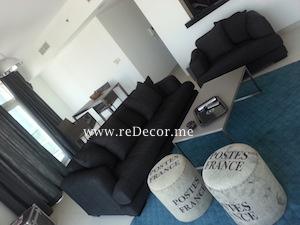 interior decor design in lofts , dubai
