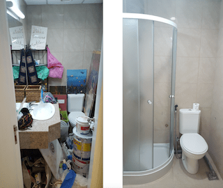 powder-room-turned-into-laundry-and-maids-bathroom-shower