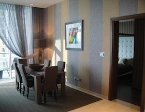 Dining area interior design Oceana dubai
