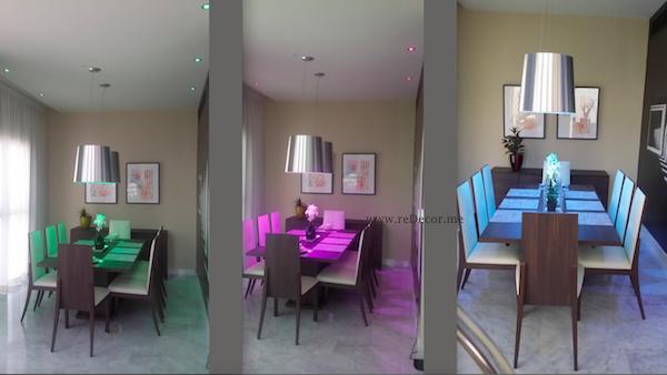 dining room decor, led lighting, contemporary living, DIFC dubai