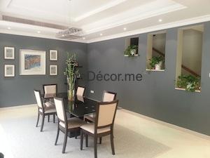 Villa living interior decor, dining area