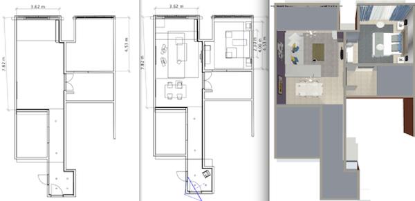 2D 3D floorplans