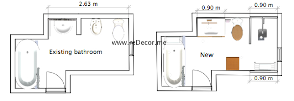 bathroom plan 2D renovation