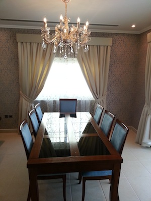 formal dining area decorating