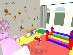 3D kids room decor proposal idea