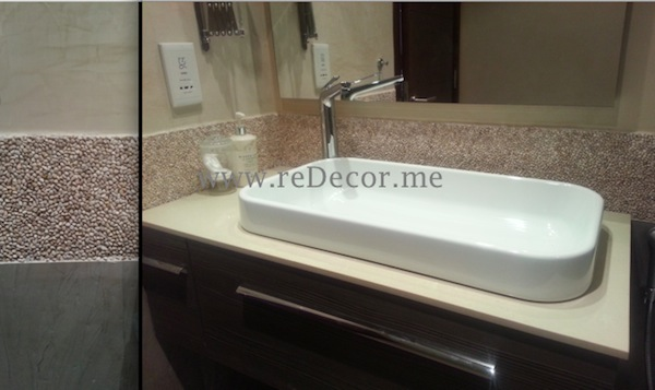 Pebble decor tile for bathroom Bagno design dubai, bathroom renovation/remodelling