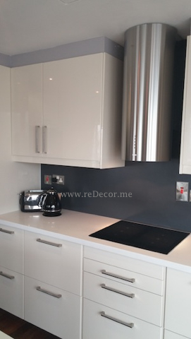 Kitchen remodelling with grey and white Ikea, Franke