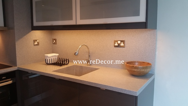 Kitchen remodelling, organising, Corian work tops