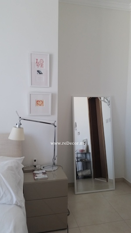 White bedroom eclectic contemporary style