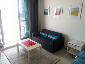 sitting living, Small studio Ikea interior decor solutions Dubai, JLT, Ikea living