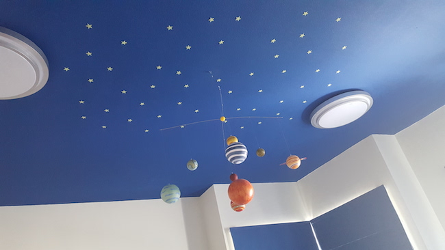 fit out dubai, boys room planetarium, ceiling decor