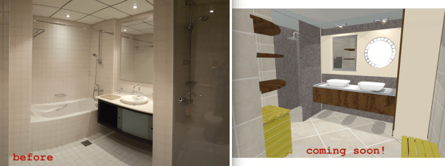 Large luxurious bathroom remodelling, hotel style, organised, renovation, design by erika pace, dubai, fit out solutions, gypsum works