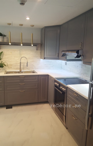 kitchen fitout dubai, remodeling, renovation, design, modern, old green kitchen, decor, designer consultation, stone backsplash, marble counter