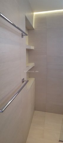 bathroom fit out dubai, remodelling, Master, 2nd bedroom and guest room bathroom remodelling, fitout dubai, bathroom fitout, design, consultation, practical, sliding shower doors, mirror cabinets, springs villa 4M, built in shower shelves