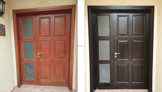 front door renovation, facade renovation , dubai green community, fitout, kitchen remodelling