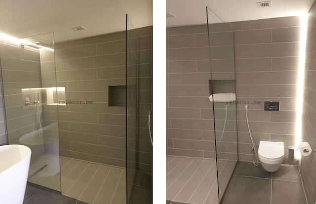 bathroom renovation, fitout dubai, before and after Palm jumeirah, design big bathroom