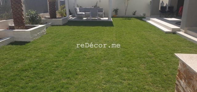 Landscaping, BBQ, pergola, lighting, planter boxes, irrigation for full garden in Dubai Hills, landscaping design in dubai, pergola design, lighting solutions, interior designer