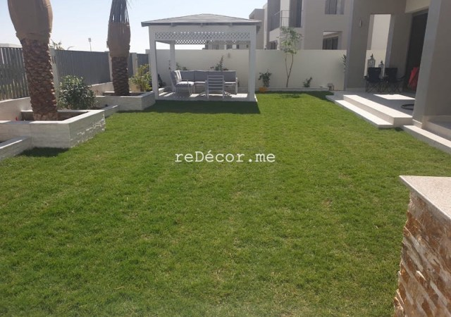 dubai landscapes, landscaper and interior designer, planter box, irrigation system, pergola design dubai hills