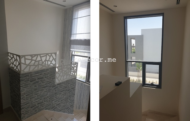 dubai hills bathrooms, interior designer dubai arabian ranches renovations, fitout dubai, staircase solutions, safety, dead space hiding under stairs
