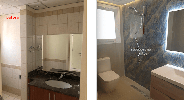 springs villa renovation, bathroom with shower guest, interior designer dubai, home styling and decoration, cozy villa in springs, fitout villa on a budget