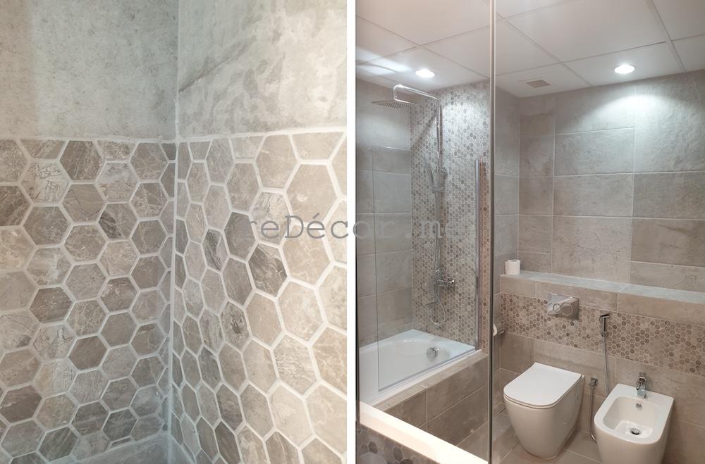 beautiful bathroom renovation in jbr amwaj shams dubai interior designer , modern design style