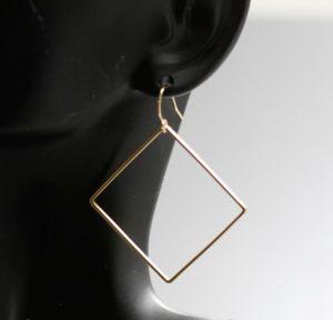 handmade silver square earrings