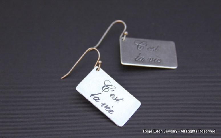 cest la vie earrings