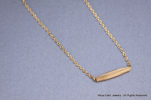 handmade brass tube necklace