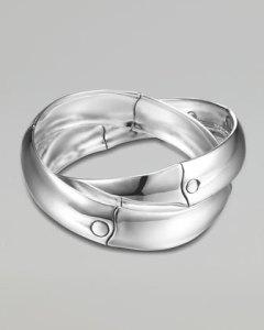 interlocking silver bracelet