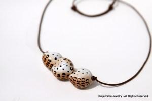 Animal Print Fair Trade Bead Necklace
