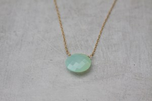 handmade chalcedony necklace