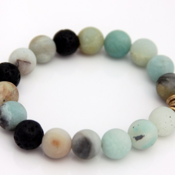 amazonite bracelet - essential oil diffuser jewelry