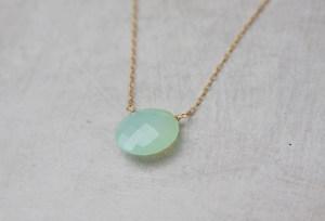 chalcedony gemstone necklace