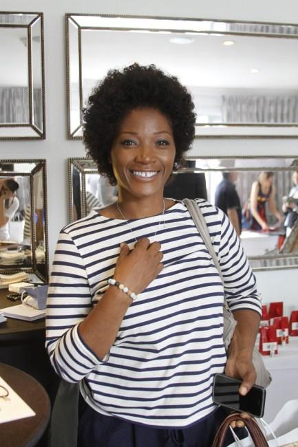 yolanda ross wearing a bracelet by Reija Eden Jewelry
