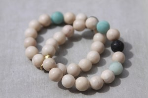 fossil gemstone bracelet set