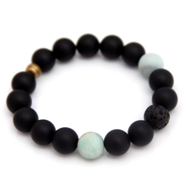 matte onyx gemstone bracelet