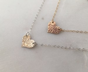 handcrafted heart necklaces