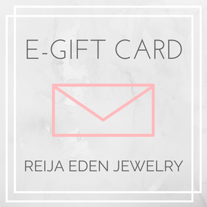 electronic gift card for handmade jewelry designs by Reija Eden