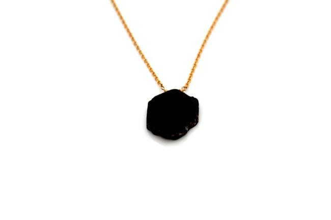 raw garnet necklace