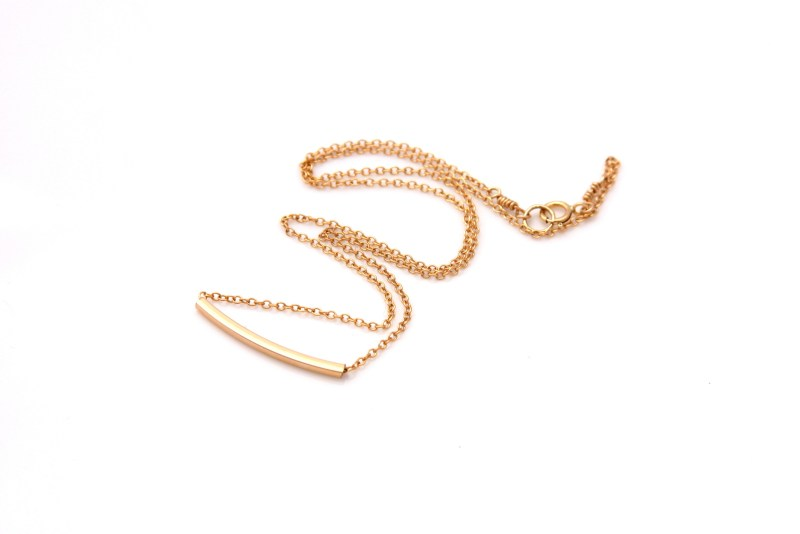 gold bar necklace, modern jewelry