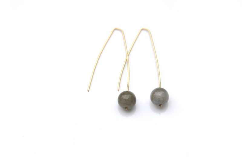 modern labradorite earrings