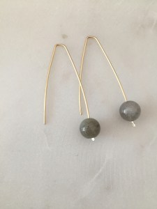 modern labradrorite earrings