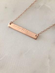 #momlife necklace - handmade - handstamped