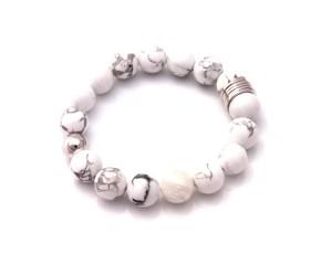 modern howlite bracelet