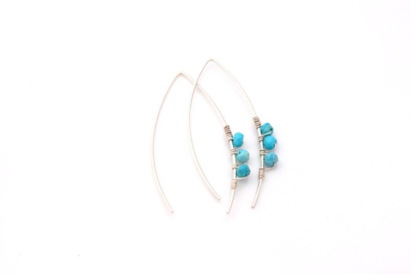 modern turquoise earrings