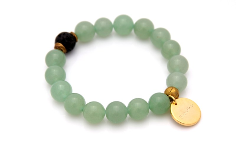 breathe bracelet - green aventurine