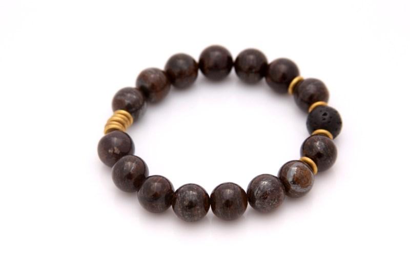 bronzite bracelet essential oil bracelet